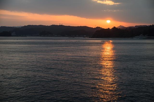 大分の夕日